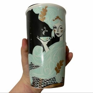 Starbucks Siren Mermaid Ceramic Tumbler 12 Fl Oz